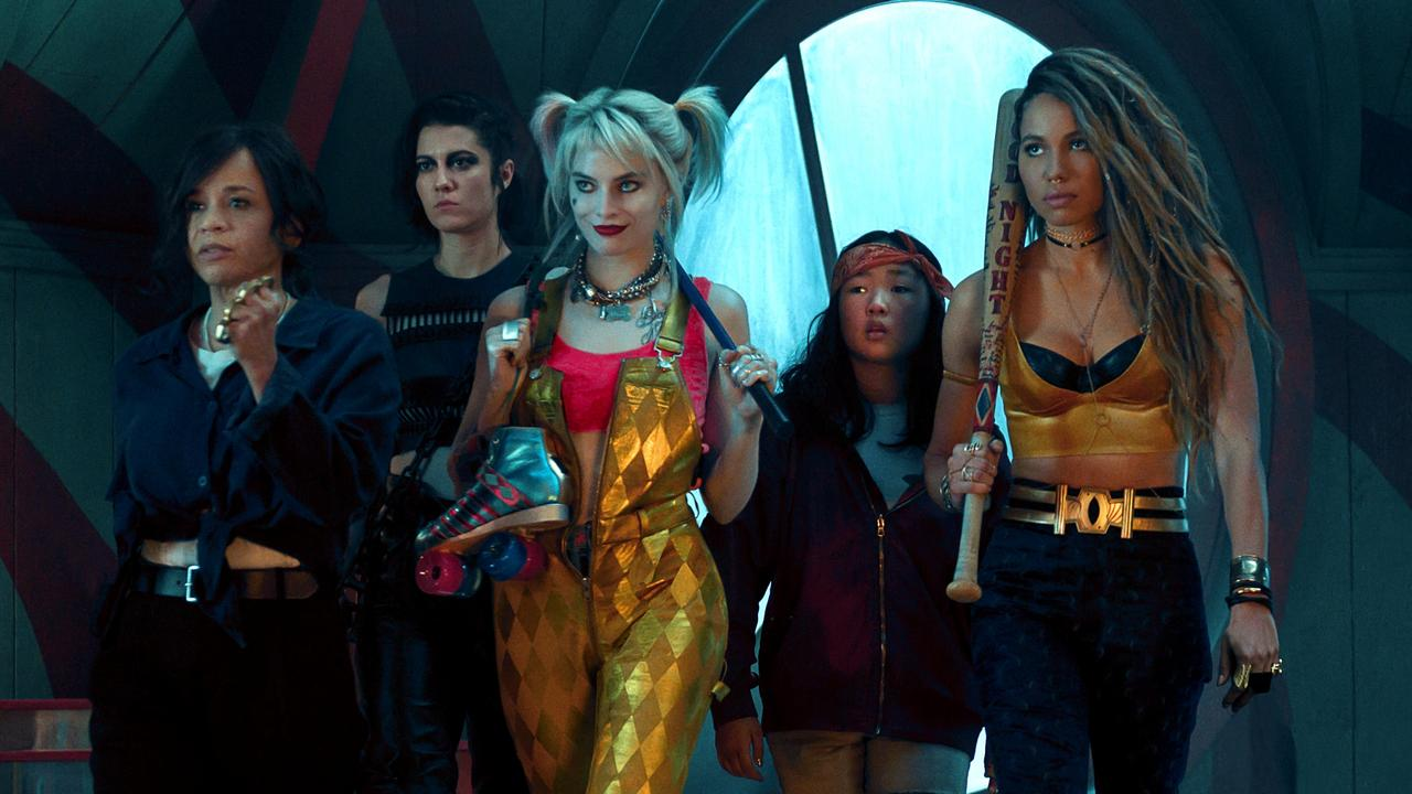 Rosie Perez, left, in a scene from the movie Birds of Prey. Warner Brothers Pictures.