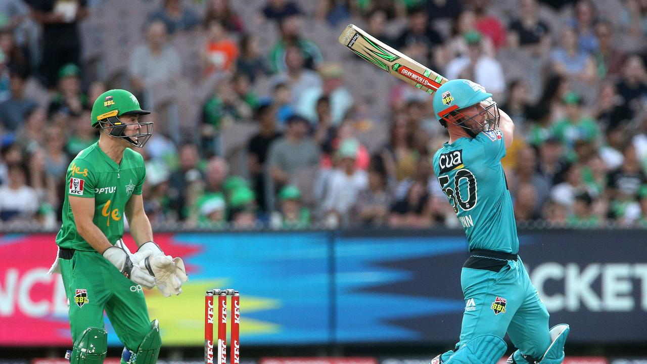Chris Lynn of Brisbane Heat batting during the Big Bash League (BBL) cricket match between the Melbourne Stars and the Brisbane Heat at the MCG in Melbourne, Saturday, January 25, 2020. Is he playing in Bundy?
