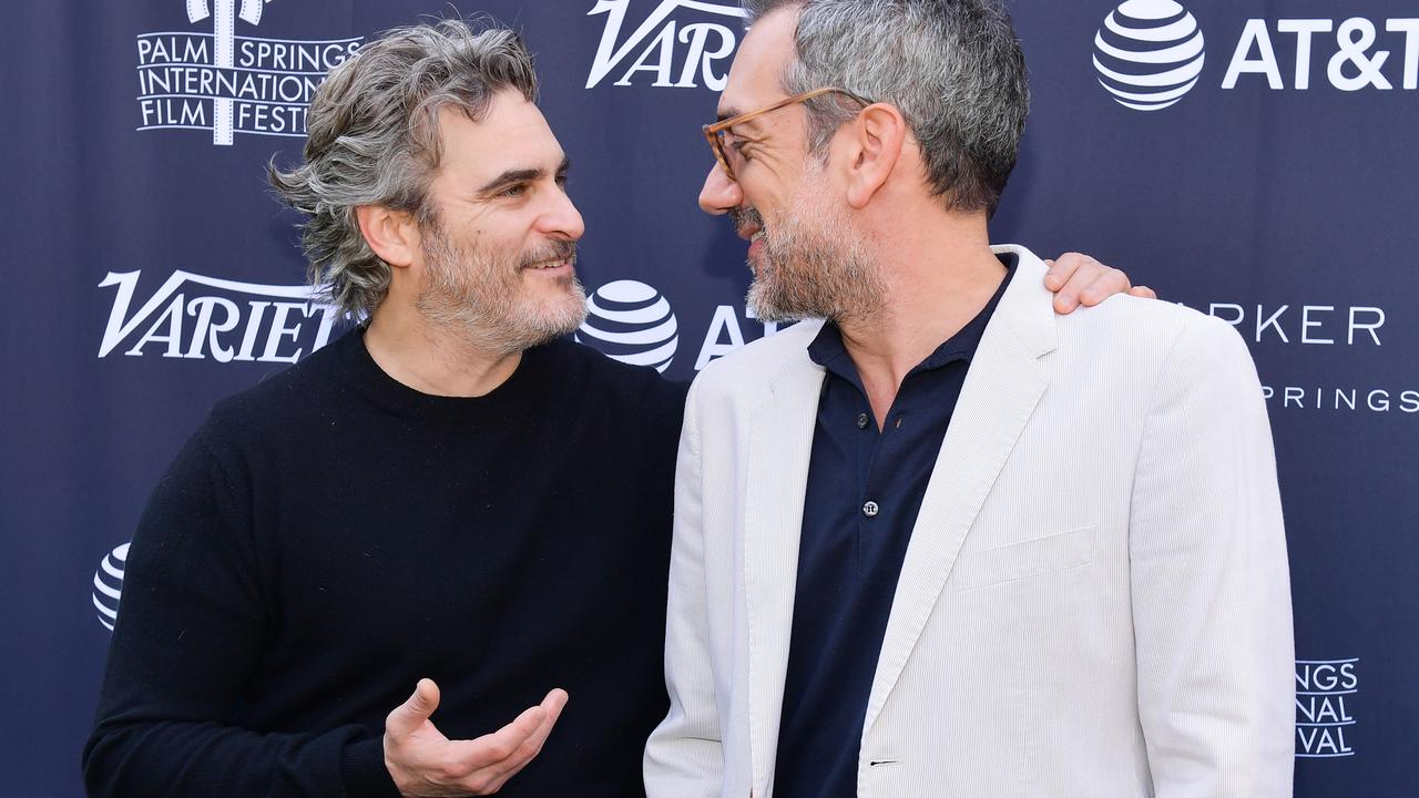 Joaquin Phoenix and Todd Phillips are both up for awards at next month's Oscars, with Joker leading the nomination count. Picture: Matt Winkelmeyer/Getty Images