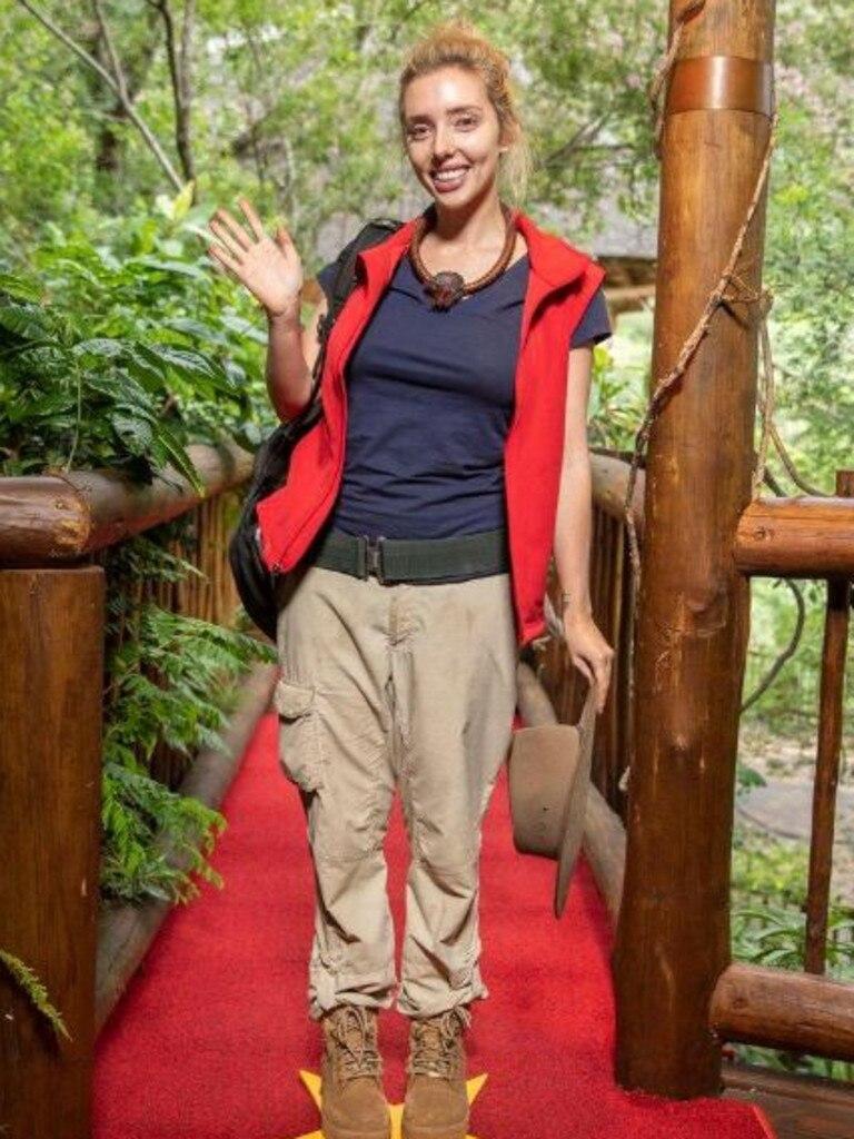 Erin Barnett waving the jungle life goodbye. Picture: Channel 10.