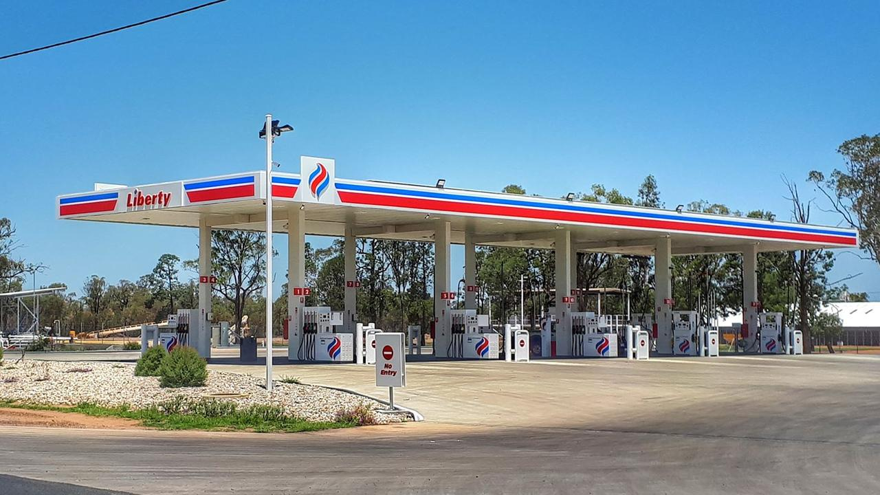 CRIME SCENE: The Miles Liberty Petrol Station was targeted in early morning robbery.