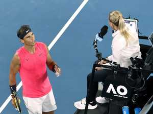Rafa rages at umpire before shock exit