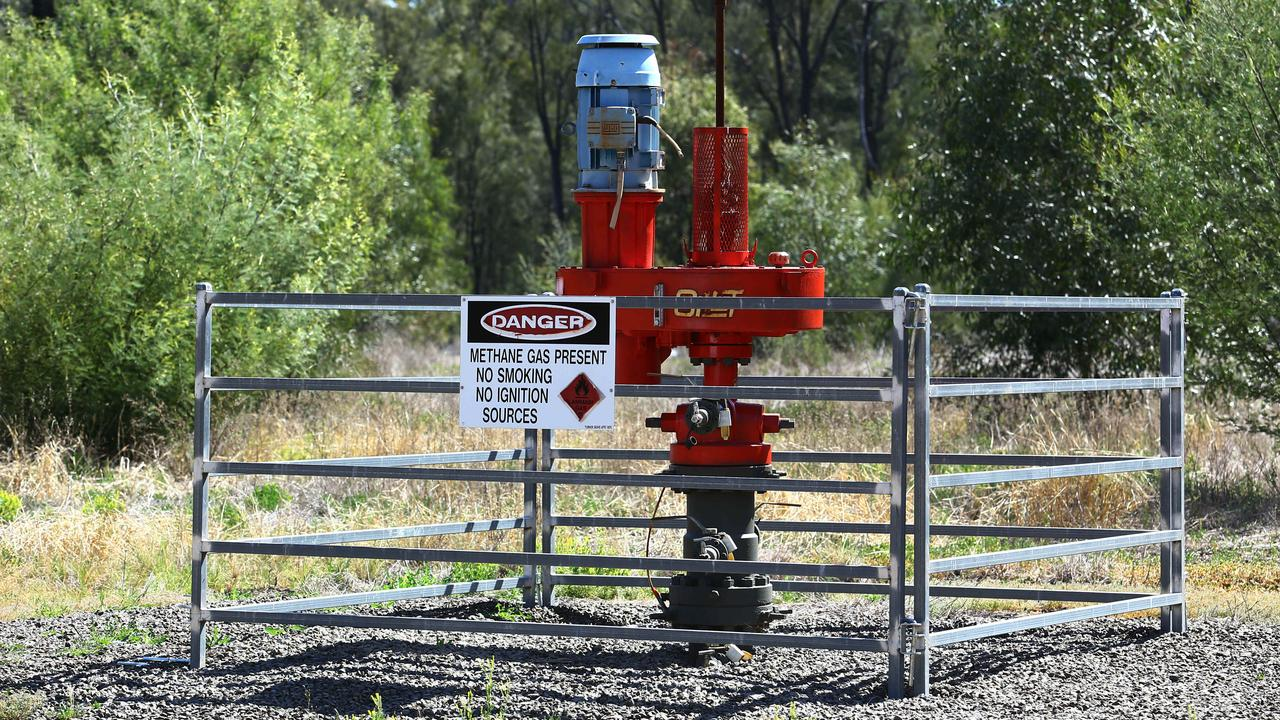 A gas well outside Narrabri in northwest NSW, part of the stalled Santos Narrabri Gas Project. Picture: Britta Campion/The Australian