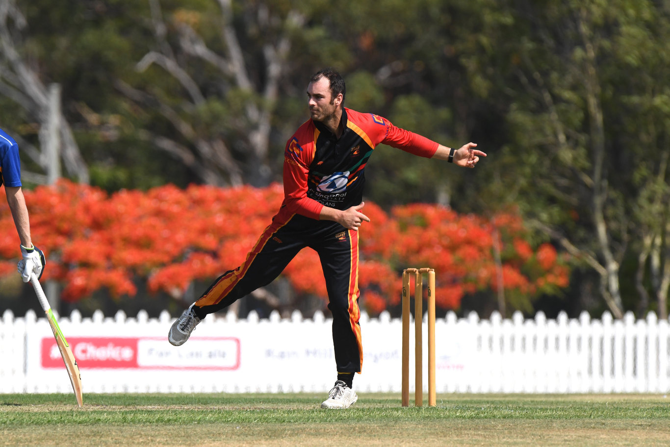 Sunshine Coast Scorchers against Sandgate-Redcliffe T20 cricket match at Kerry Emery Oval.Alecz Day bowls for the Scorchers