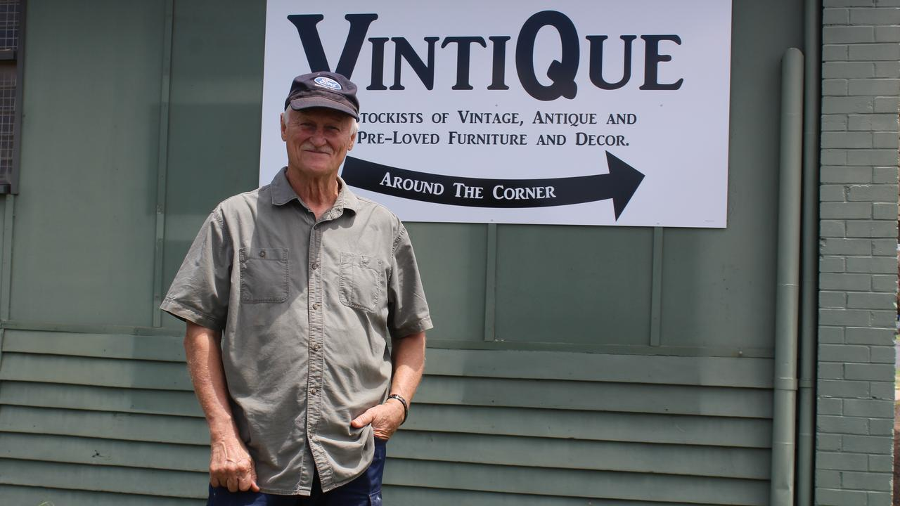 NEW BUSINESS: Owner Chris Stewart is looking forward to filling his shop Vintique, Kingaroy with more collectable items. Photo: Laura Blackmore