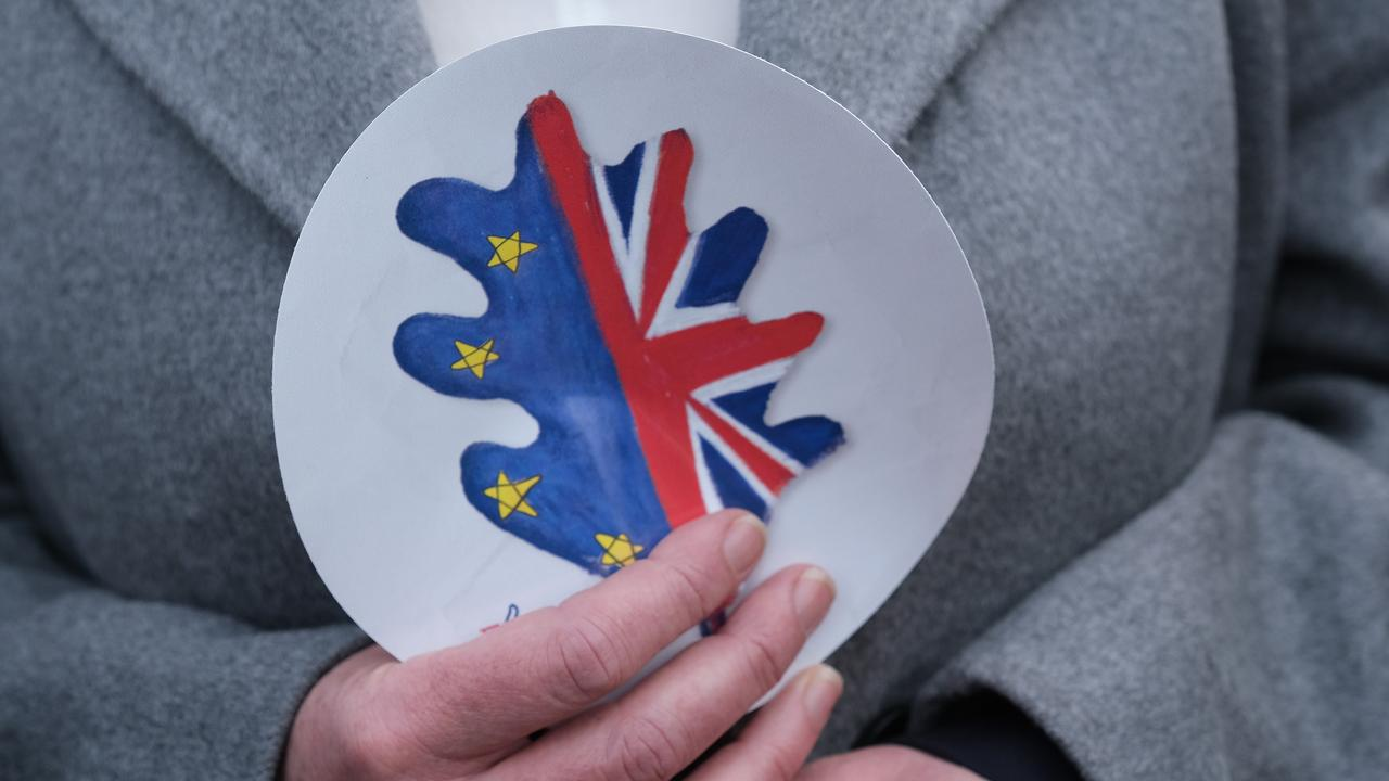 Britain will leave the EU on Friday night at 11pm local time after three years of bitter debate. Picture: Sean Gallup/Getty Images.