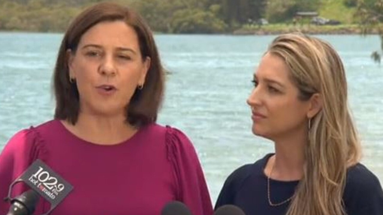 LNP leader Deb Frecklington has endorsed Gerber. Picture: Nine Gold Coast News.