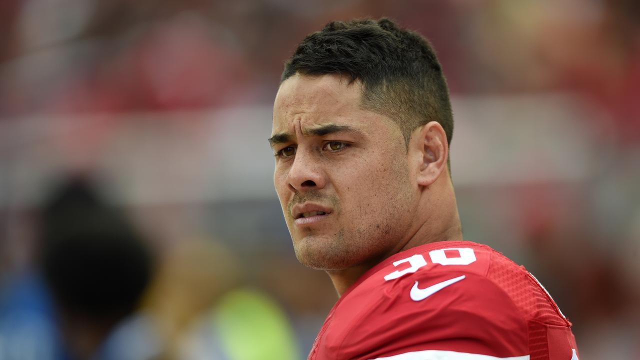 Running back Jarryd Hayne. (Photo by Thearon W. Henderson/Getty Images)