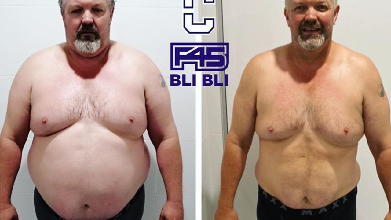 INSPIRING: Jeff Parker has lost 38.5kg since joining F45 Bli Bli in July 2019 when he weighed in at 157.8kg.