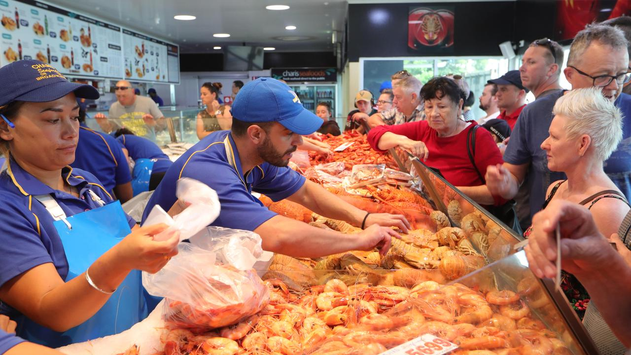The Christmas Eve Seafood rush in full swing at Charis Seafood Labrador.