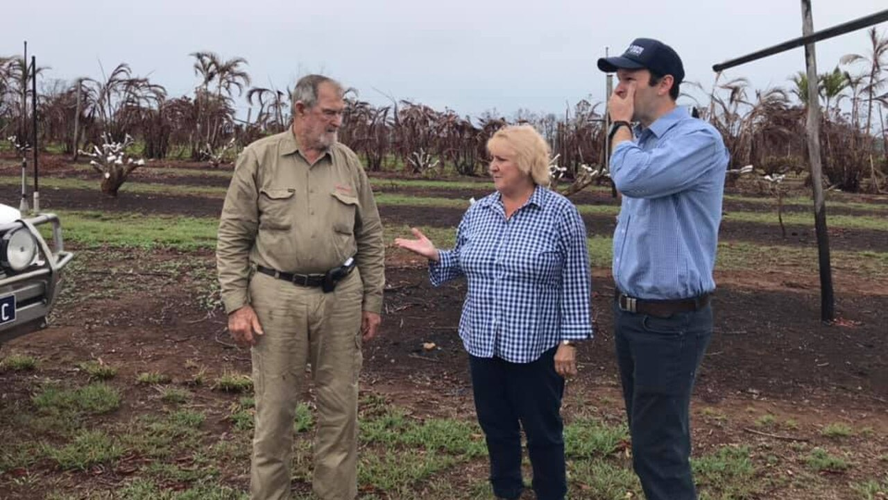 BUSHFIRE SUMMIT: Queensland Senator Matt Canavan and Capricornia MP Michelle Landry visited Cowie farm in Bungundarra to hear from land holders about the bushfires and talk about how the government could help.