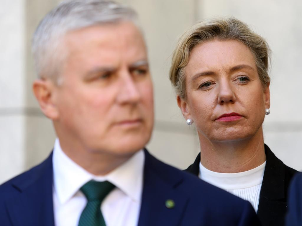 Nationals leader Michael McCormack – whose own leadership is tenuous after failing to cut through with the public – has remained supportive of his deputy, Bridget McKenzie, who is propping up his own job. Picture Gary Ramage
