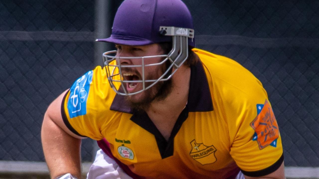 Gympie Regional Cricket fixtures - Wests v Harlequins: Harlequins' Shaun Ringuet Photo - Zahner Photography