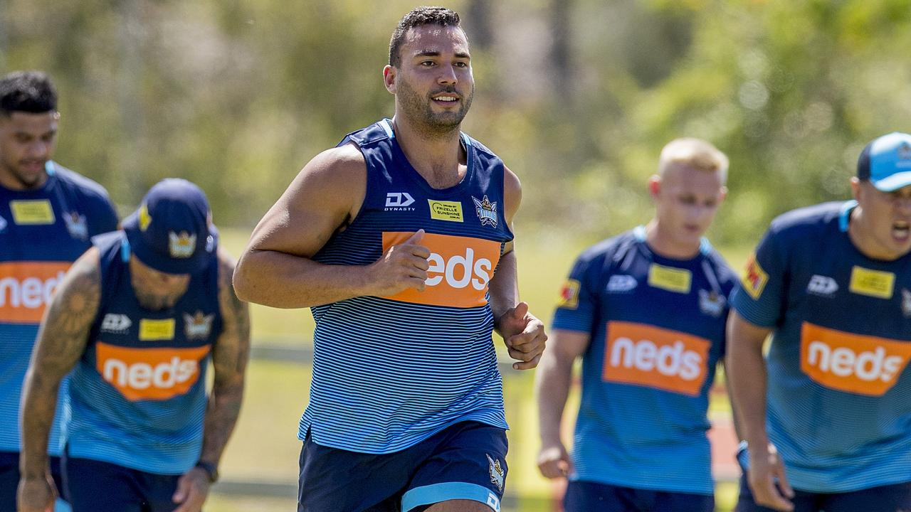 The Gold Coast Titans' Ryan James has been cruelled by injury again. Picture: Jerad Williams
