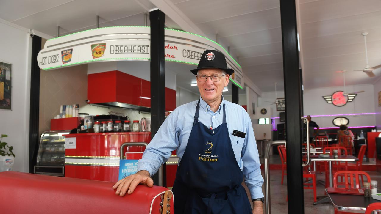 Les Wilson owns the Eagle Rock Cafe in Toogoolawah