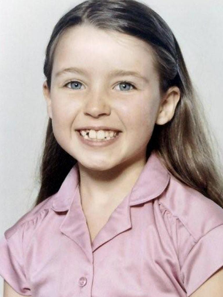 Singer Dannii Minogue in her first year of school.