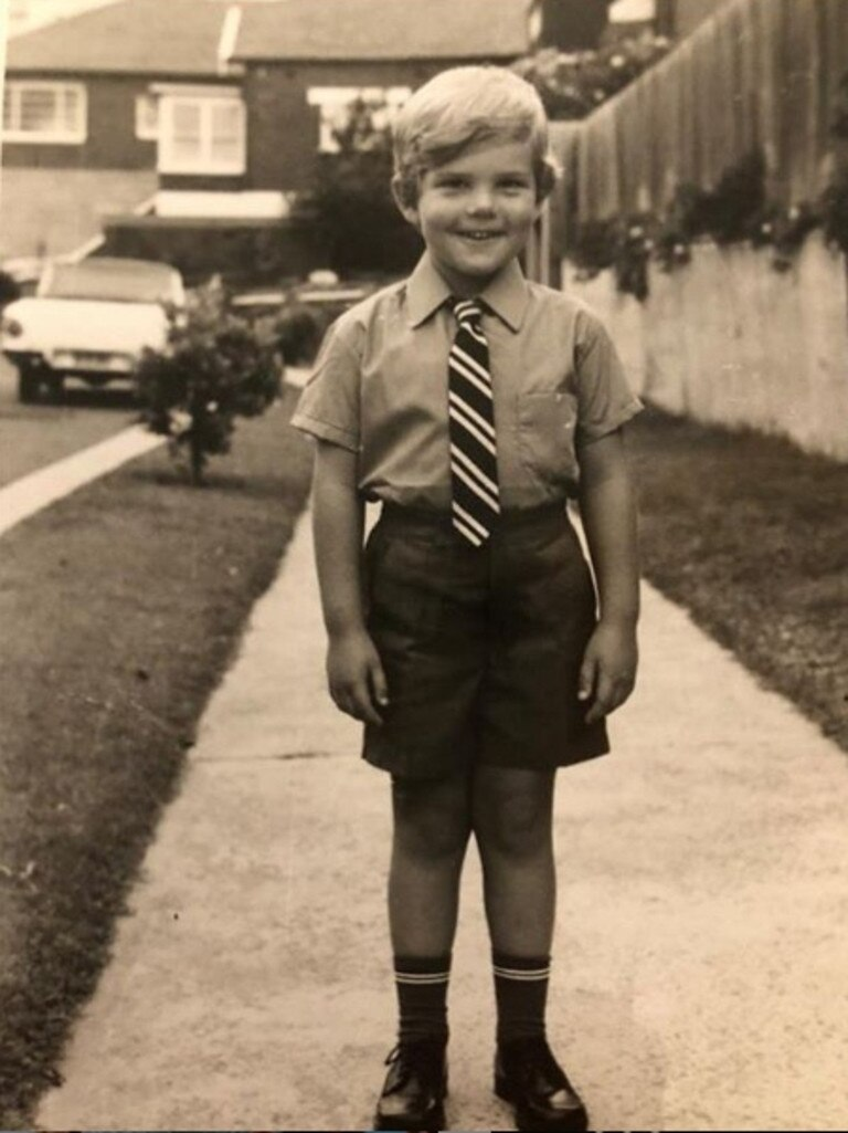 Scott Morrison on his first day of school at Clovelly Public School in 1973.