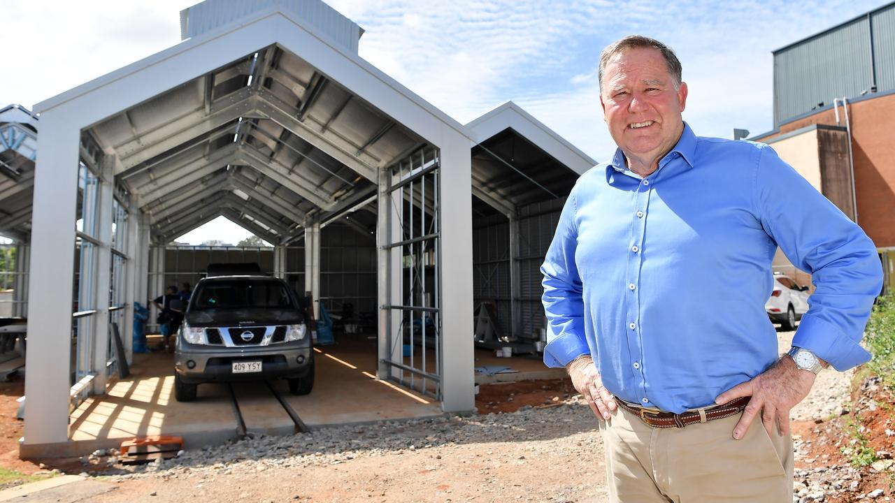 Cr Greg Rogerson at the Nambour terminus site. Photo: Patrick Woods