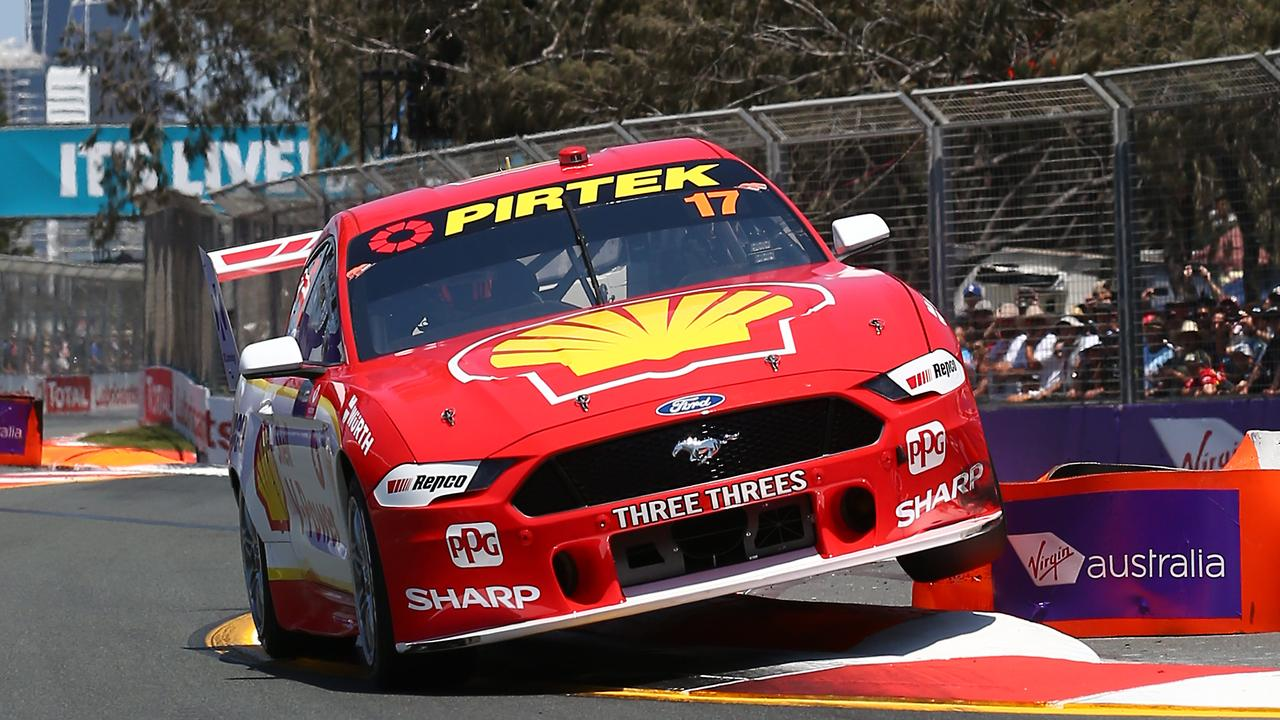 Ford Mustang driver Scott McLaughlin at the Gold Coast 600 Supercars racet. Picture: Brendan Radke