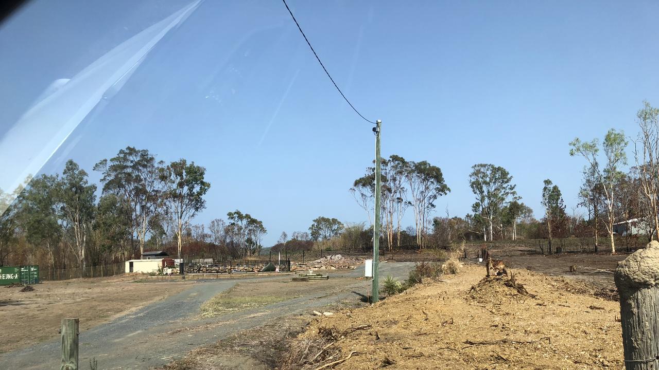 Devastating damage to Tegan and Luke Nixon's home after the fires.
