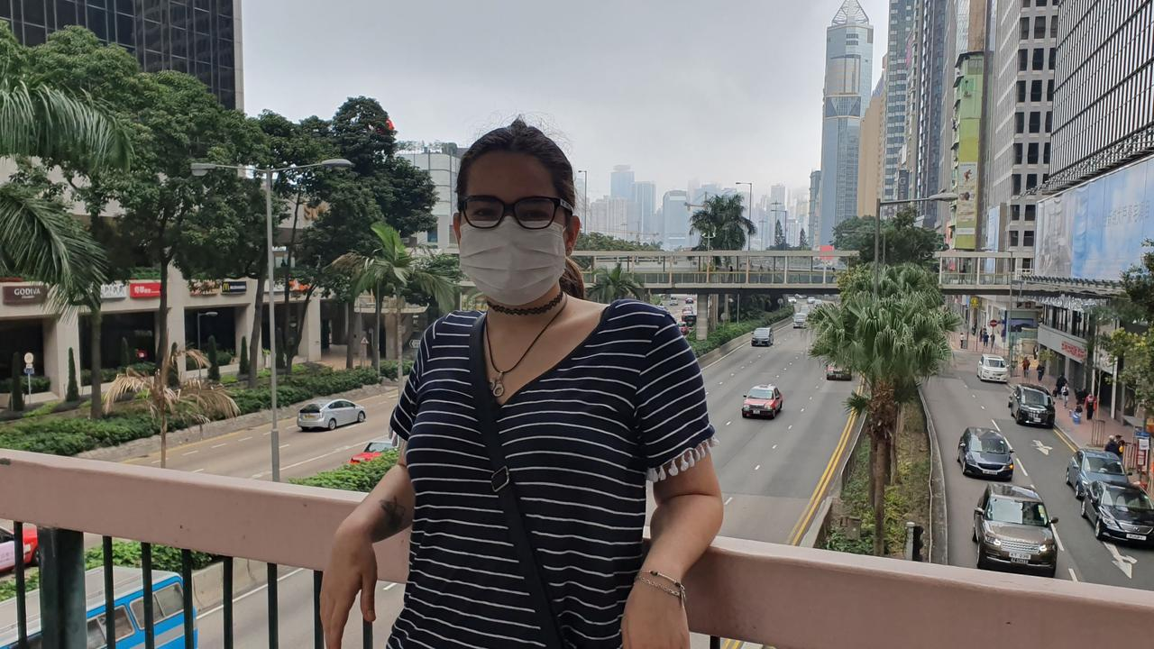 Darwin's Jayde Hopkins is making her way back to Australia after the outbreak of the coronavirus. She had been in Hong Kong for a university drama program. Picture: Jayde Hopkins