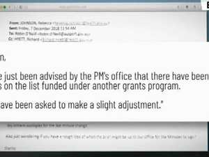 Email links PM to sports rort scandal