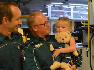 'Heartbreaking': Burnt toddler reunites with lifesavers