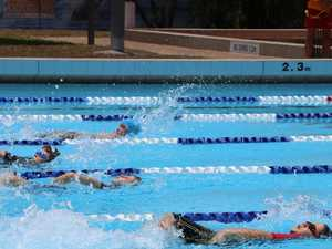 Services swimmers roll up to pool in big numbers