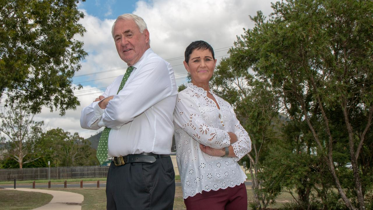 BACK TO BACK: Lockyer Valley Mayor Tanya Milligan and Toowoomba Mayor Paul Antonio are joining forces with Ipswich City Council to fight for a passenger rail link from Toowoomba to Brisbane. Picture: Dominic Elsome