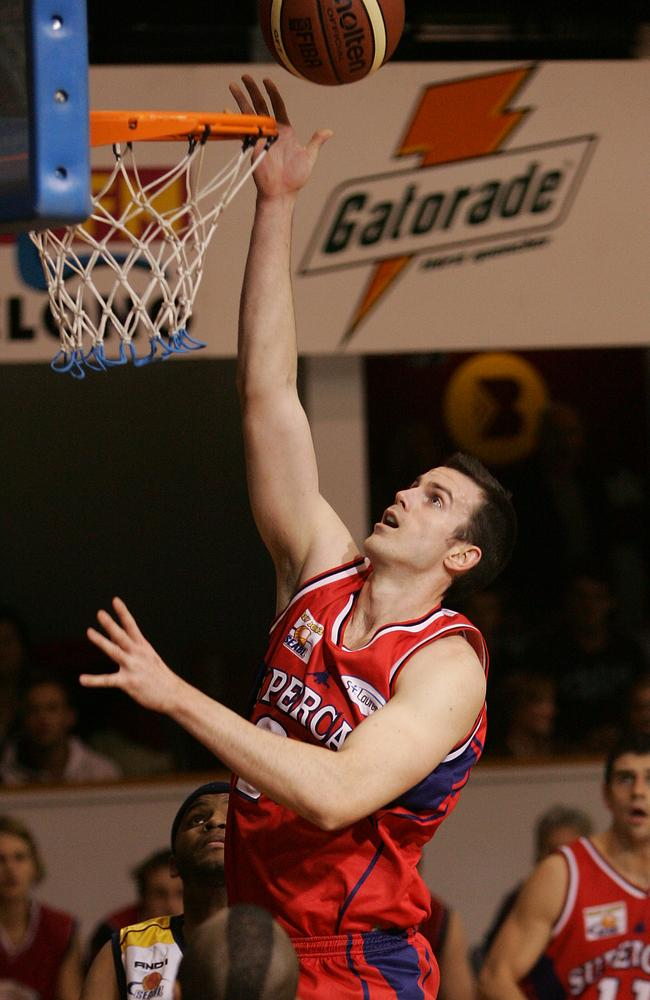 Former NBL player Daniel George playing with the Geelong Supercats.