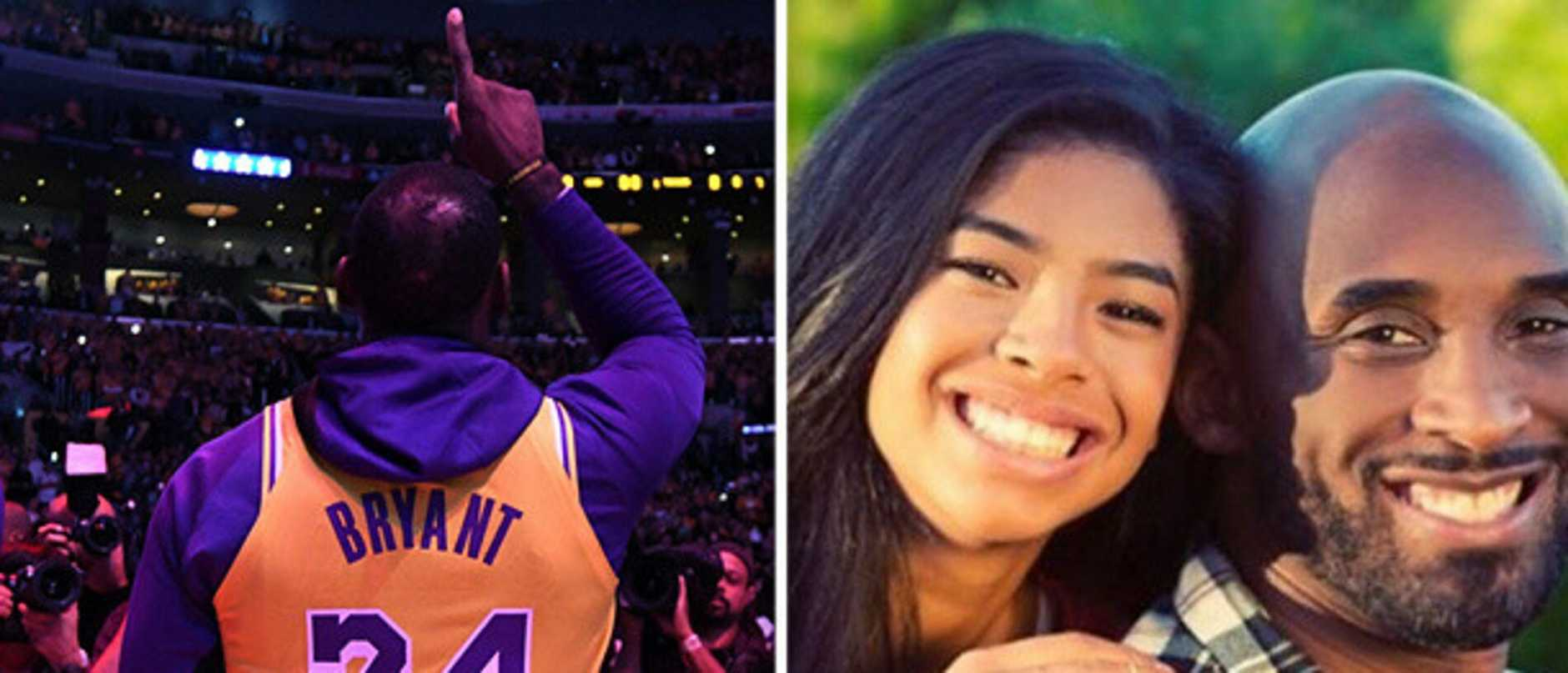 The Lakers' franchise and fans have paid an emotional tribute to Koby Bryant and his daughter Gianna.