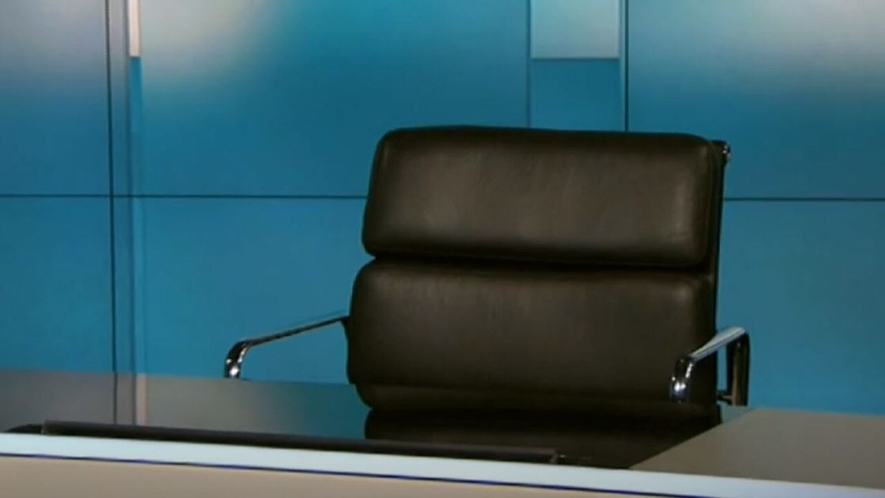 The chair remained silent. Picture: 7.30