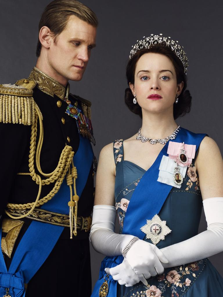 Matt Smith as Prince Philip and Claire Foy as Queen Elizabeth II. Picture: Netflix