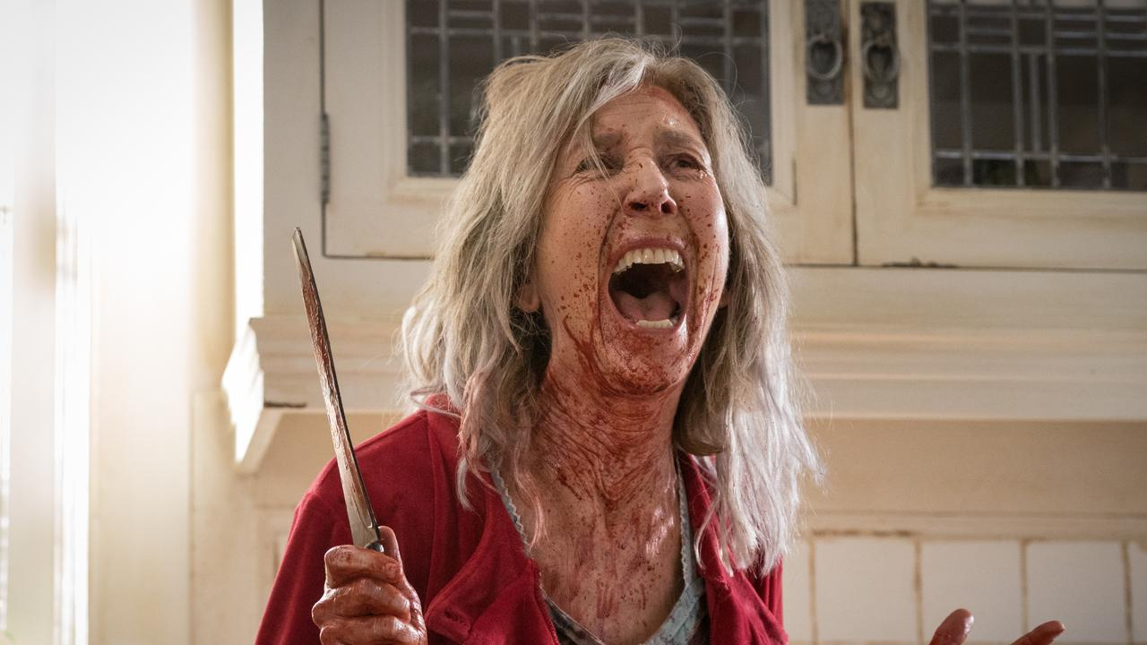 Lin Shaye in a scene from The Grudge.