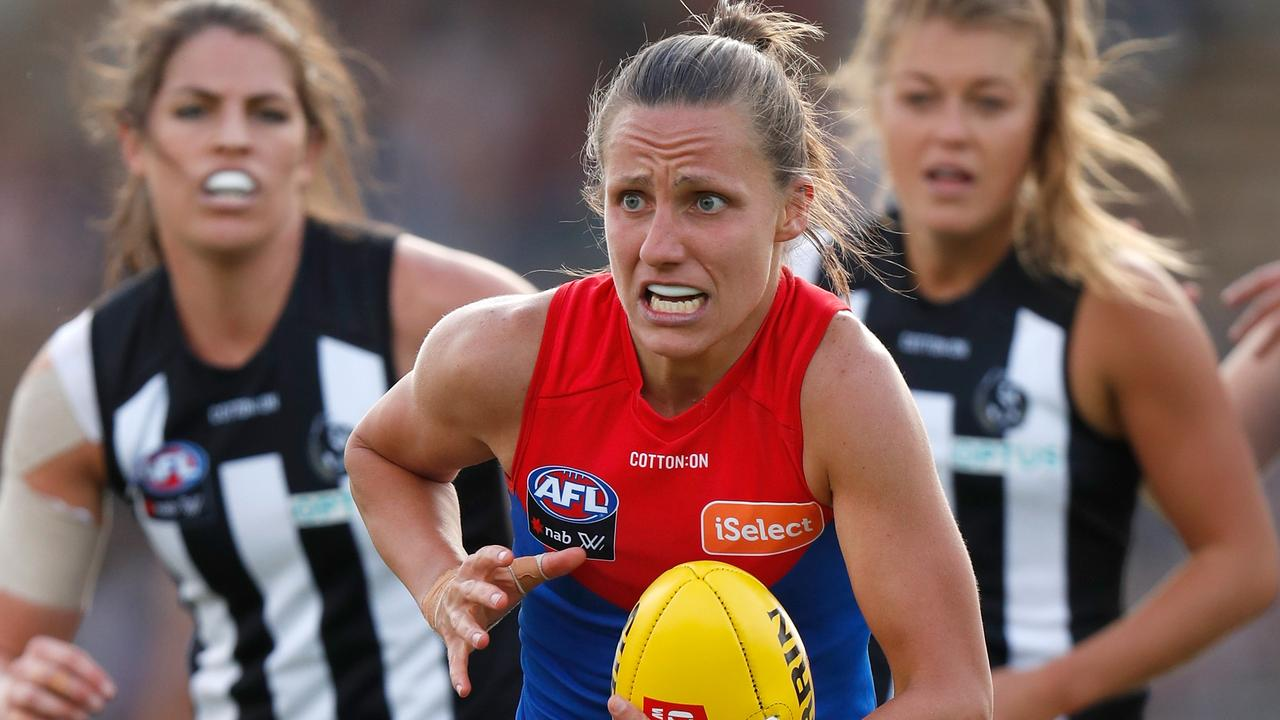Melbourne's Karen Paxman will be one to watch during the 2020 AFLW season. Picture: MICHAEL WILLSON/AFL MEDIA/GETTY IMAGES