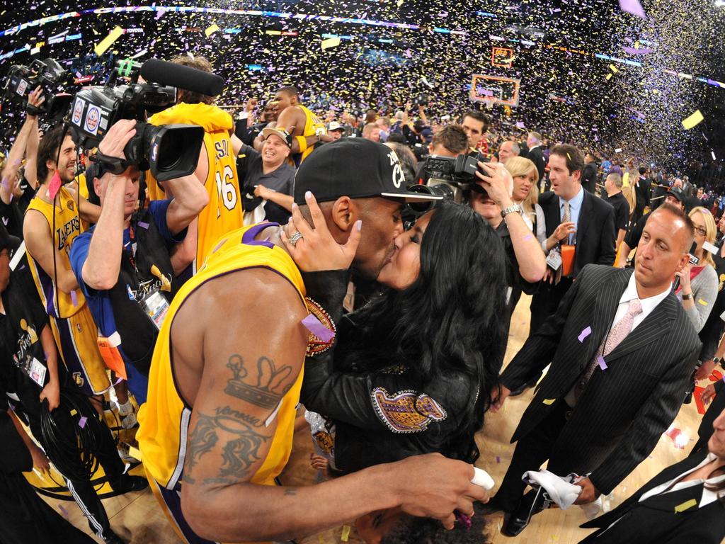 Celebrating the 2010 NBA championship. Picture: Jesse D. Garrabrant/NBAE via Getty Images