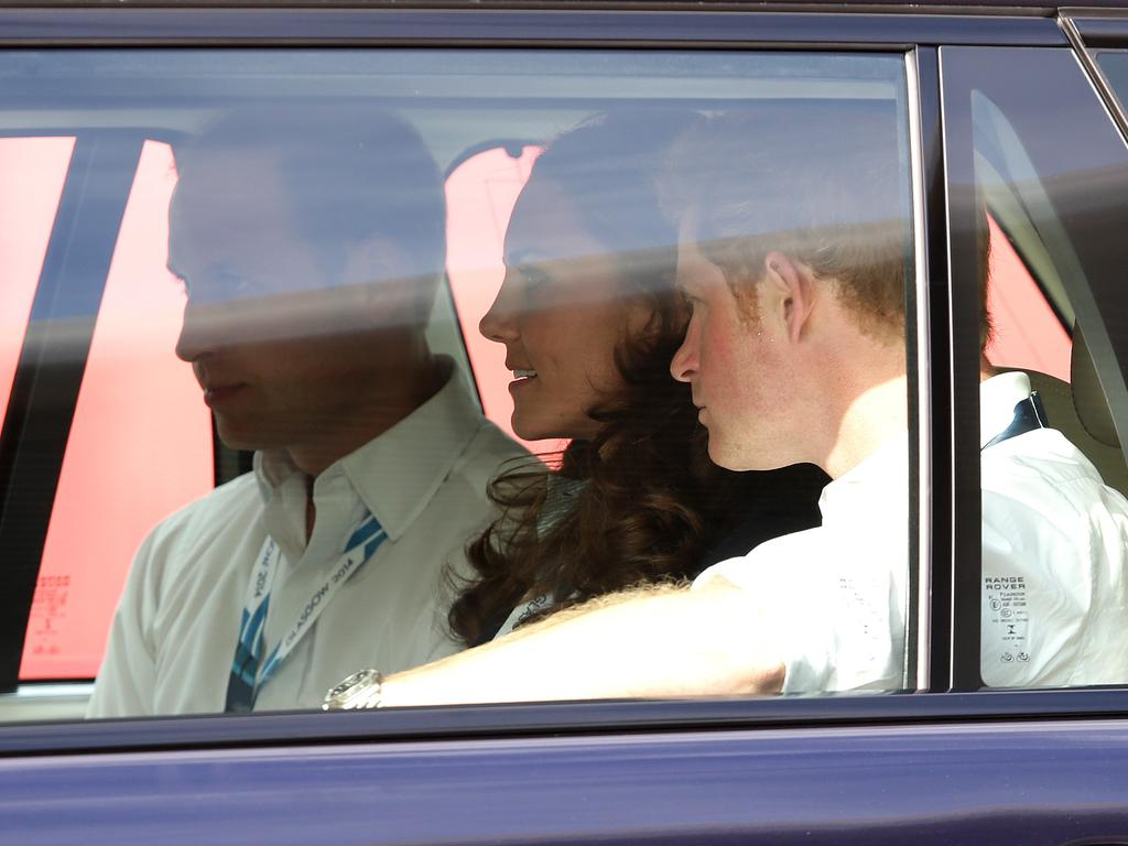 Prince Harry used to go everywhere with Prince William and Kate. Picture: Adam Head