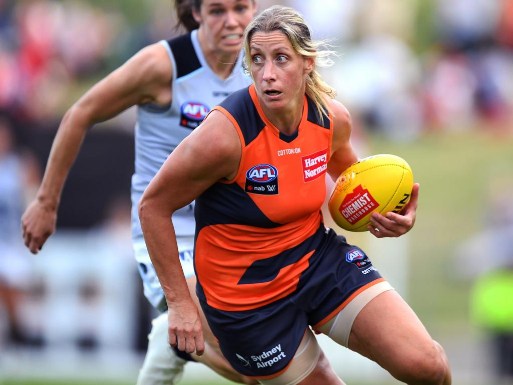 Giants' Cora Staunton. Picture: AAP IMAGE/DYLAN COKER