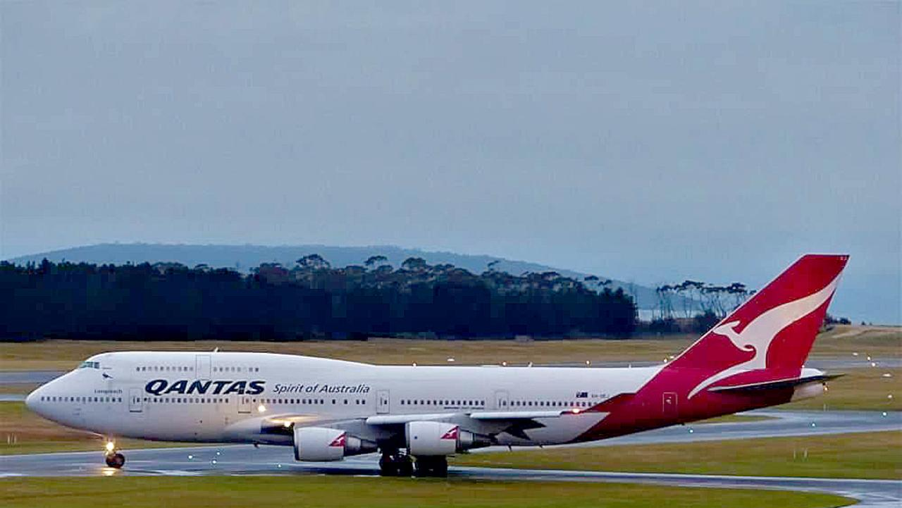 The Qantas plane is too large to land at Christmas Island so will be diverted to Darwin. Picture: QUINTON TURNER
