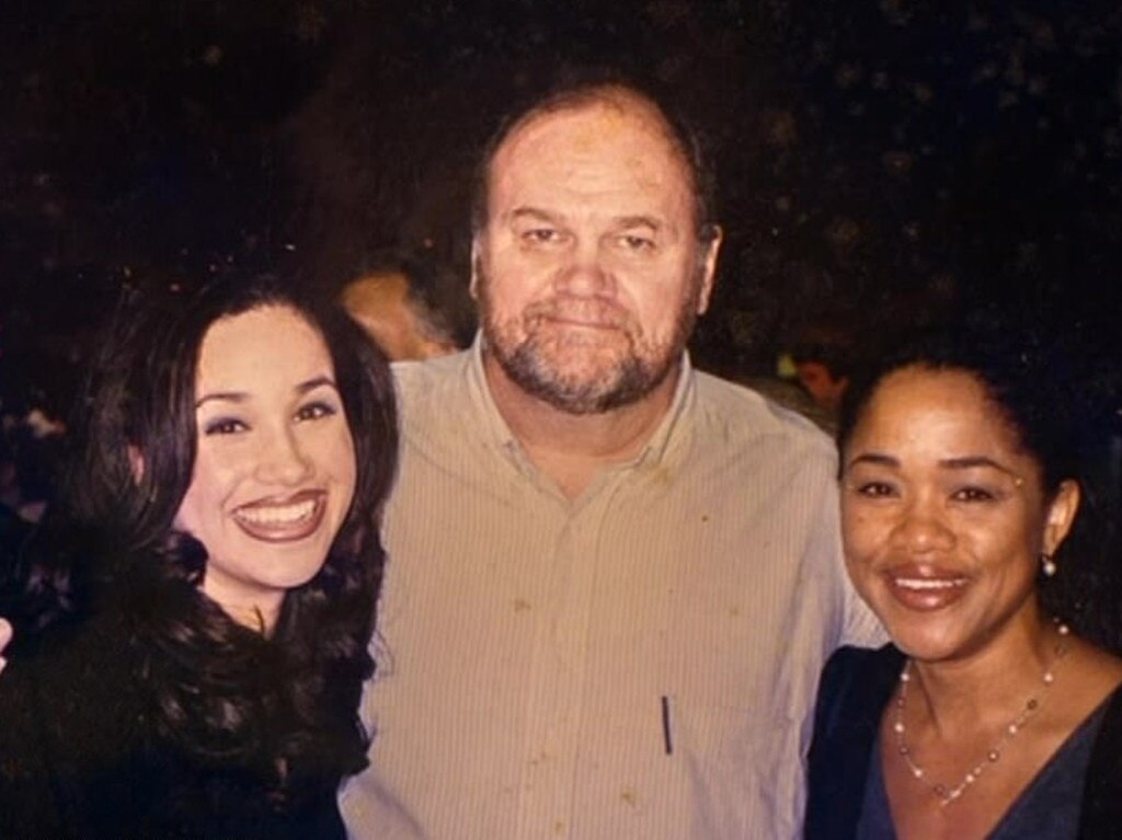 Meghan Markle with her parents Thomas Markle and Doria Ragland. Picture: Supplied/Thomas Markle: My Story