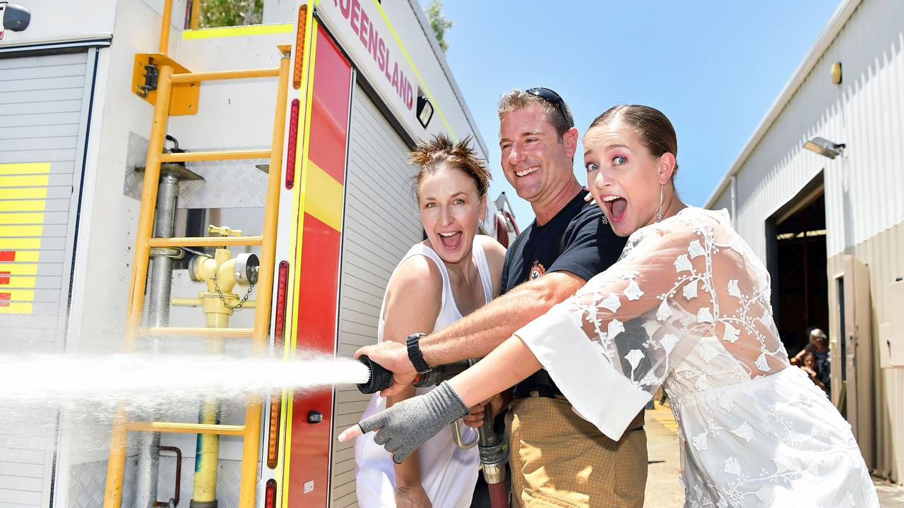 Tamara Wrigley's Fashion Addict Fundraiser for bushfire appeal. Tam Wrigley, Matt Bruce and Emma Tomlinson. Photo Patrick Woods / Sunshine Coast Daily.