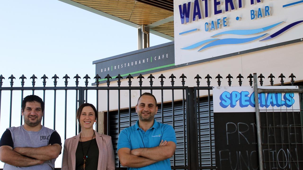 Former head chef Jeffrey Morad, Lucille Assaf and Wael Assaf. Dr Assaf transformed the former Waterfront Cafe into a bright Lebanese restaurant, Ashtart in Mackay city centre.