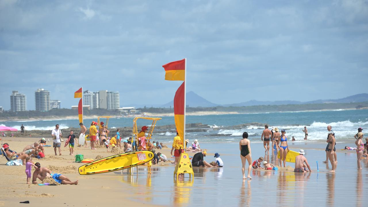 10 swimmers have been pulled from beaches across the Sunshine Coast, including seven from outside the patrolled flagged area. File photo of Mooloolaba Beach. Photo: Warren Lynam / Sunshine Coast Daily