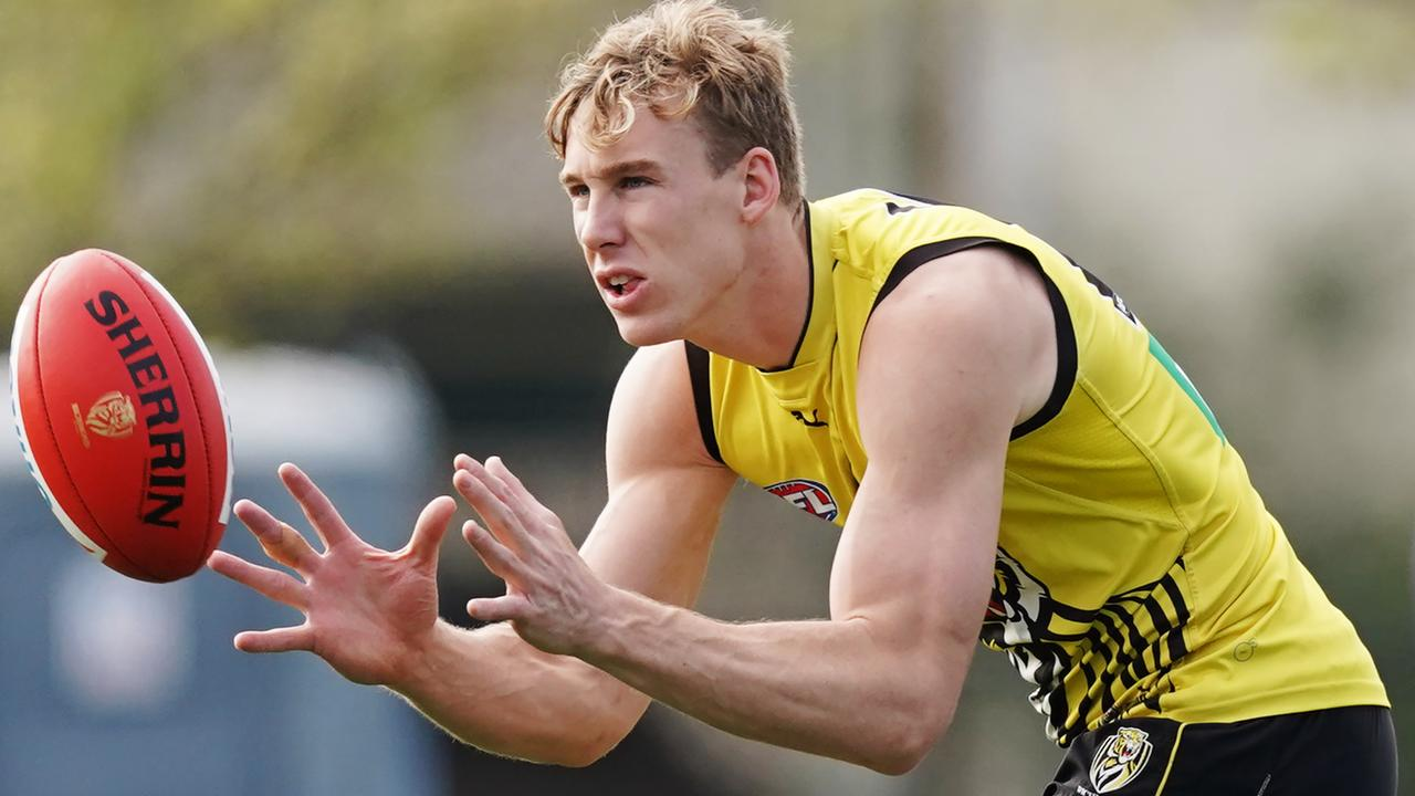 Tom Lynch of the Tigers at training.