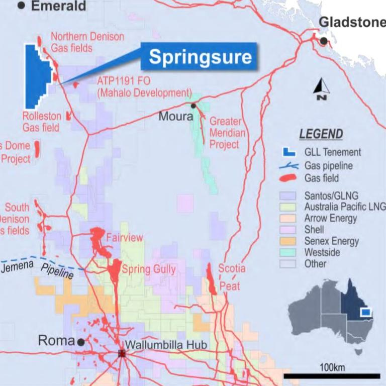 Springsure Project location