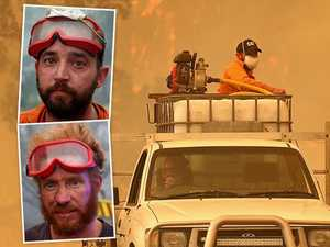 Two blokes and a ute help save dozens of homes from blaze