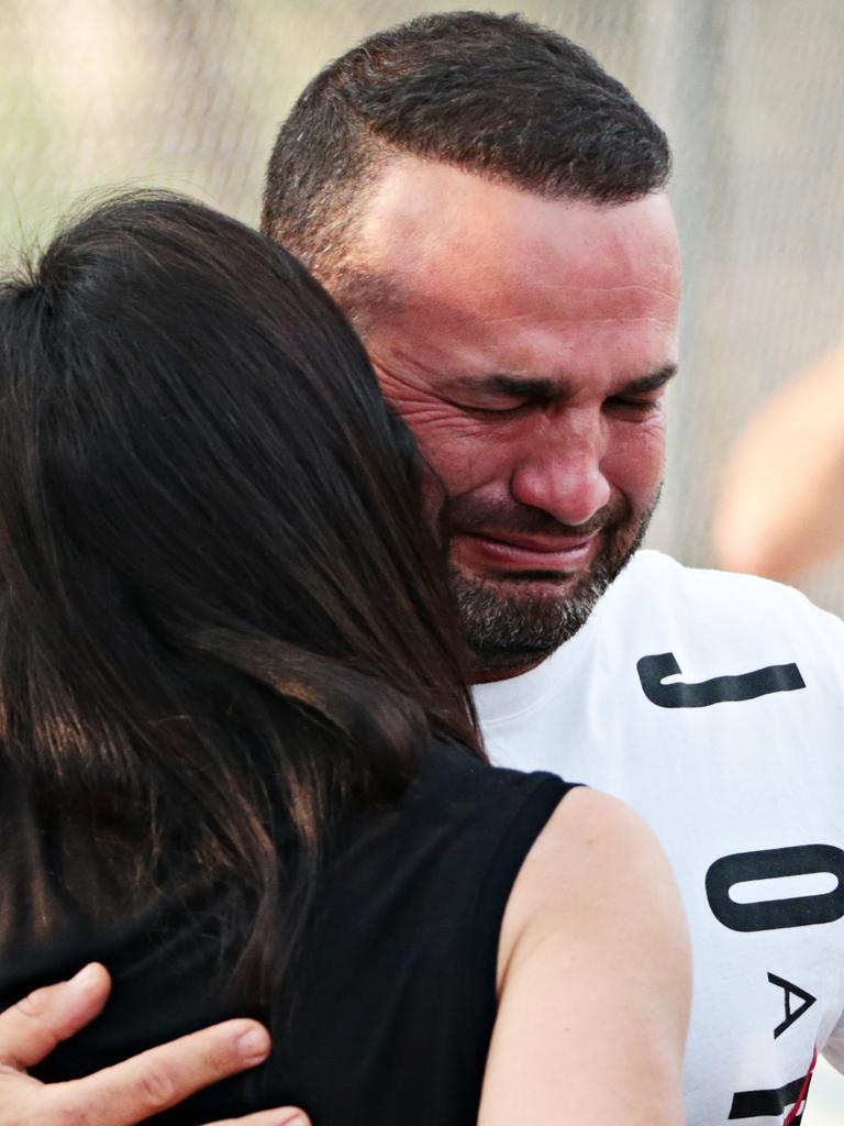 Distraught father Danny Abdallah on Sunday. Picture: Adam Yip