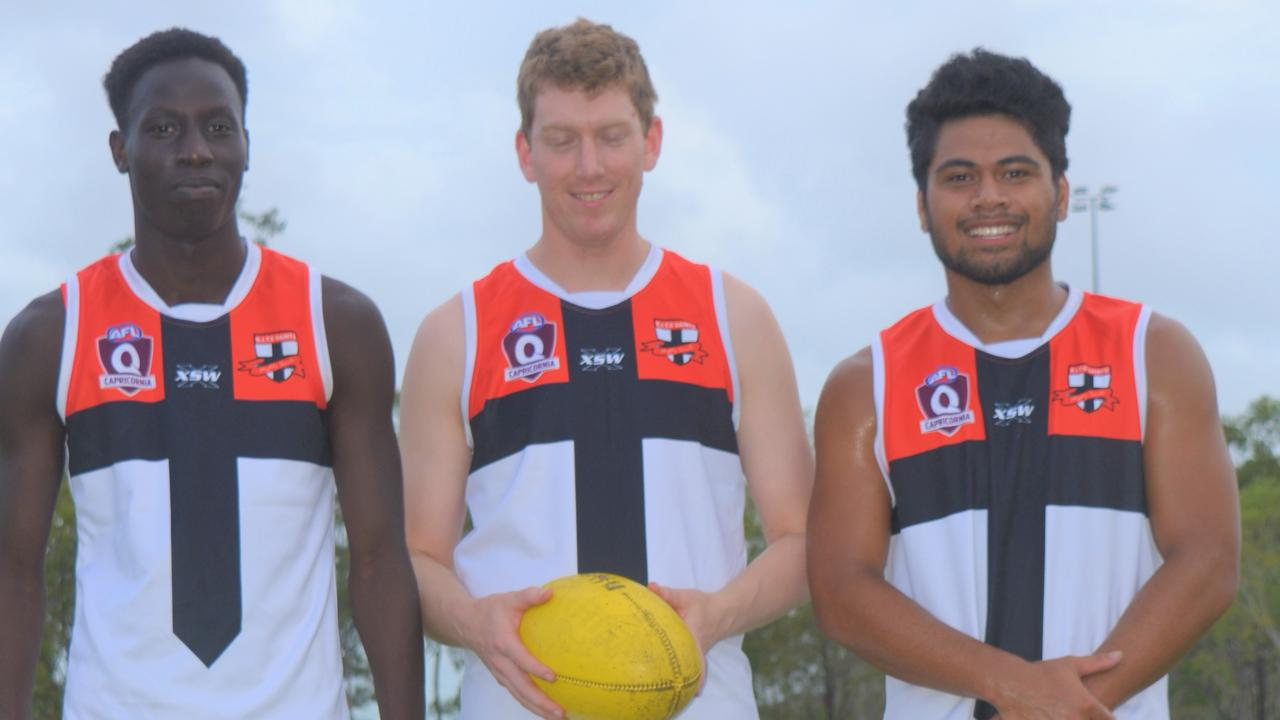 STAR SIGNINGS: Victorian recruits Ubil Chol, Rob Frost and Scott Jackman will bring class and experience to BITS Saints in 2020. PICTURE: Nick Kossatch