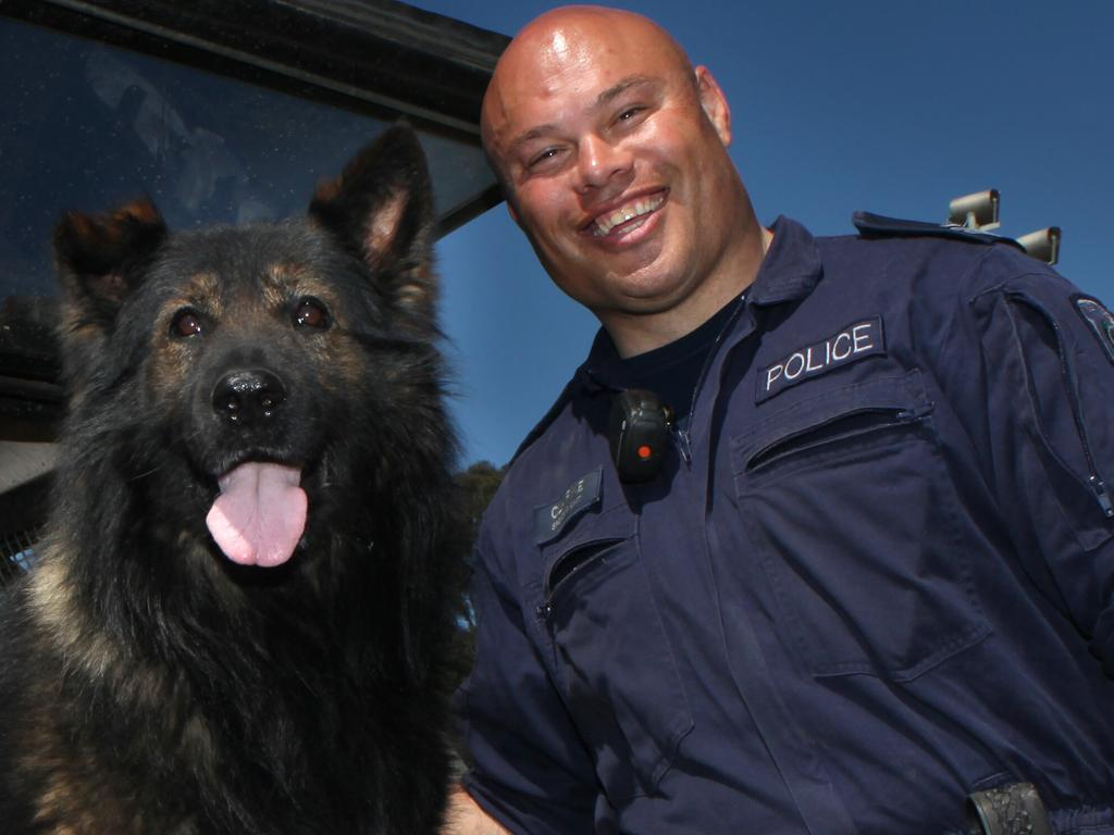 NSW Police dog handler Leo Clarke, with his police dog Demon, will receive a valour award.