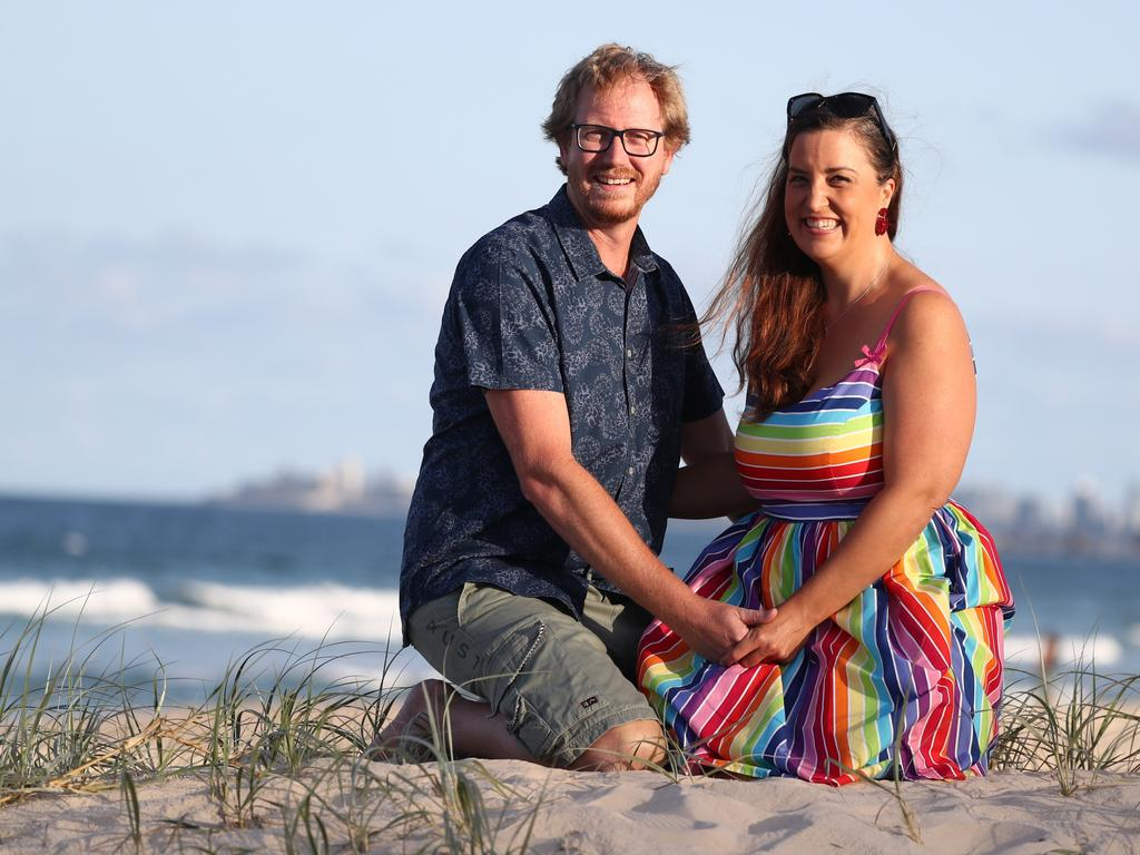 Couch Outloud Love Match pair Kerryn Devine and Jason Beard are getting married at Pacific SLSC on Saturday. Photo: Jason O'Brian